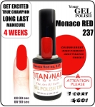 GEL Polish 8ml - soak off - Monaco Red (no. 237)