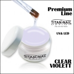 UV&LED Gel Premium Line builder gel 3in1 1 Phase gel CLEAR Violett No Burn