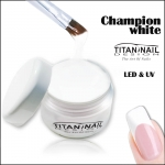 Champion White żel UV & LED - super biały, gęsty, idealny do frencha i do zdobień