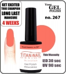 GEL Polish 15ml - soak off  - Royal Majestic no. 267