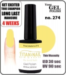 GEL Polish 15ml - soak off  - Royal Pina Colada no. 274