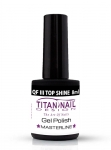 Quick Finish 3 - Shining Gel 8 ml- QFIII Milky Way - top Shine Glitter NO WIPE - UV & LED  -
