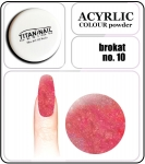 10 brokat orange - 2g. Akryl kolorowy proszek