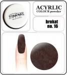 16 brokat dark brown - 2g. Akryl kolorowy proszek