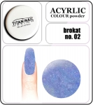 02 brokat blue - 2g. Acrylic colour powder