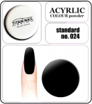 24 standard black - 2g. Acrylic colour powder