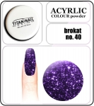 40 brokat violet - 2g. Acrylic colour powder