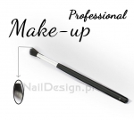 Brush for application of powder, equalizer, bronzer - to the sides of the nose or cheeks