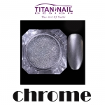 Efekt chromu - chrome effect - chromowane srebro do paznokci