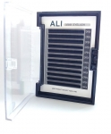 ALI Mink Eyelashes for 3D-8D Volume Method; 0.07; 9mm; profil C
