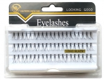 Tufts eyelashes - W10-10 eyelash in the tuft, LONG BLACK
