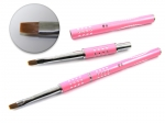 Brush for gel with zircons - pink #06
