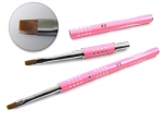 Brush for gel with zircons - pink #08