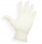 Latex gloves lightly powdered size: XL
