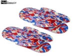 Rubber flip flops for pedicures - red-white