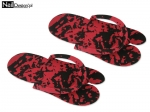 Rubber flip flops for pedicures - red-black
