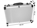 Suitcase for cosmetics - silver
