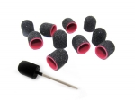 10 x black cap abrasive 13mm + carrier FREE