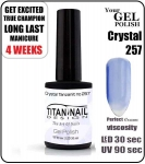 GEL Polish 15ml - soak off - Crystal Tanzanit (no. 257)