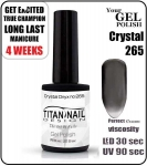 GEL Polish 8ml - soak off - Crystal Onyx (no. 265)