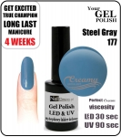 GEL Polish 8ml - soak off - Steel Gray (no. 177)