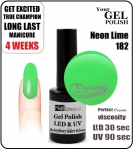 Hybrydowy lakier - GEL Polish 8ml - soak off - Neon lime (no. 182)