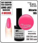 Hybrydowy lakier - GEL Polish 8ml - soak off - Alizarin (no. 195)