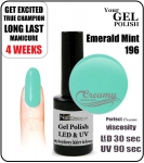 Hybrydowy lakier - GEL Polish 8ml - soak off - Emerald mint (no. 196)