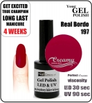 Hybrydowy lakier - GEL Polish 8ml - soak off - Real bordo (no. 197)