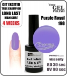 Hybrydowy lakier - GEL Polish 8ml - soak off - Purple royal (no. 198)