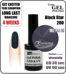 GEL Polish 8ml - soak off - Black star (no. 200)