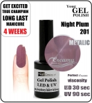 hybrydowy lakier - Gel Polish 8ml - Soak Off - Night plum (no. 201)