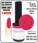 GEL Polish 8ml - soak off - Chica Neon glitter (no. 159-2)