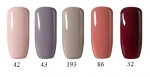set of hybrid Gel Polish colors - 5 colors - 8ml