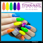 5x hybrid gel polish 8ml NEON only 40 PLN