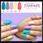 5x hybrid gel polish 8ml PASTEL only 40 PLN