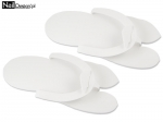 Rubber flip flops for pedicures - white
