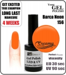 hybrydowy lakier - GEL Polish 8ml - soak off - Barca Neon (no. 156)