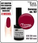 GEL Polish 15ml - soak off - 12 ml - Cereza (167)