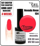 hybrydowy lakier - GEL Polish 8ml - soak off - Nevada Neon (no. 154)