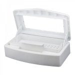 Sterilizer Box for Nail Art Tools plastic Disinfect Tweezers (White)