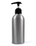 Silver bottle with pump200 ml