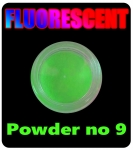 Fluorescent nail pollen glowing in the dark - green nr 9