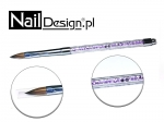 Acrylic Brush #8 purple crystal diamond