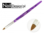 Brush for acrylic - transparent purple # 4