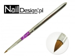 Brush for acrylic - purple and silver folding # 4