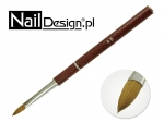Brush for acrylic - folded brown # 8