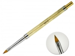 Acrylic Brush #4 folding - gold