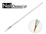 Brush for decorating Nail Art England #0 - White
