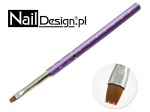 Gel Brush - folded purple with zircons #4